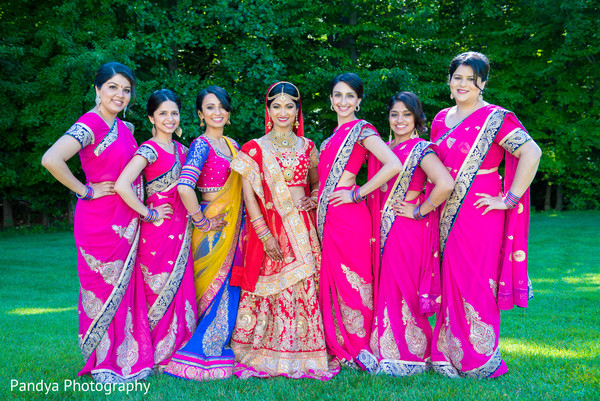 Bridal Party in New York, NY Indian Wedding by Pandya Photography