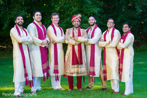 Groomsmen in New York, NY Indian Wedding by Pandya Photography