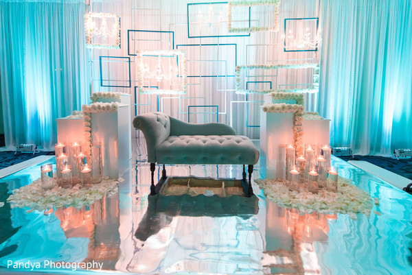 Sweetheart Stage in New York, NY Indian Wedding by Pandya Photography
