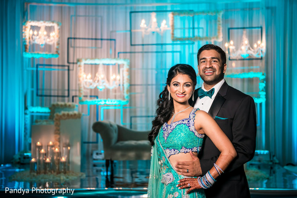 Reception Portrait in New York, NY Indian Wedding by Pandya Photography
