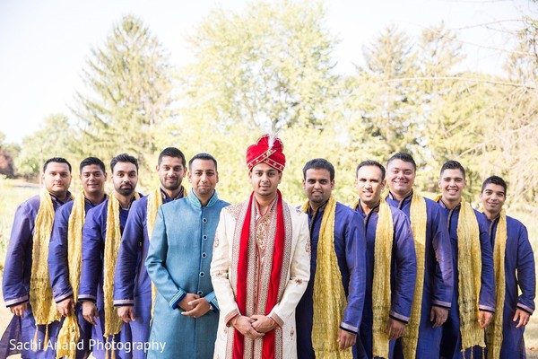 Groomsmen in Somerset, NJ  Indian Wedding by Sachi Anand Photography