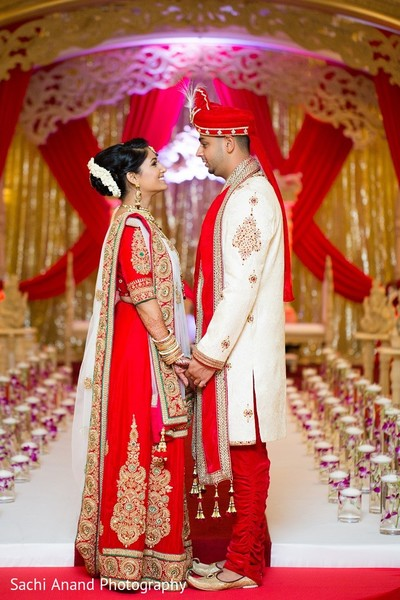 First Look in Somerset, NJ  Indian Wedding by Sachi Anand Photography