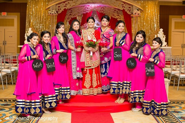 Bridal Party in Somerset, NJ  Indian Wedding by Sachi Anand Photography