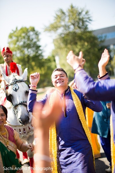 Baraat in Somerset, NJ  Indian Wedding by Sachi Anand Photography