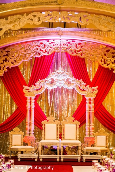 Ceremony Decor in Somerset, NJ  Indian Wedding by Sachi Anand Photography