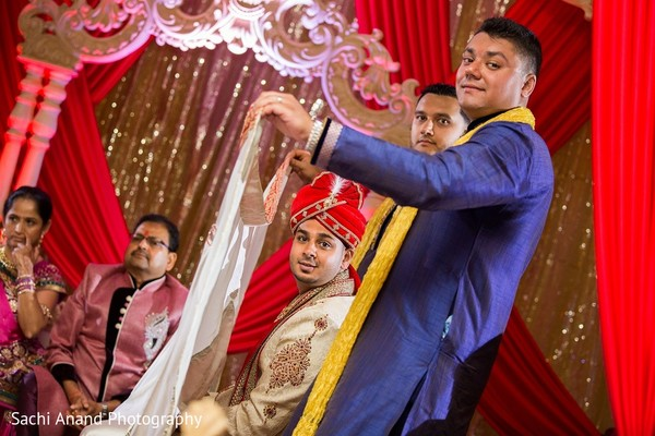 Ceremony in Somerset, NJ  Indian Wedding by Sachi Anand Photography