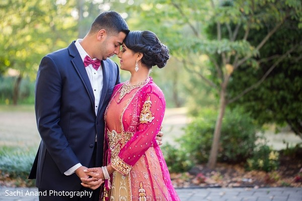 Reception Portrait in Somerset, NJ  Indian Wedding by Sachi Anand Photography