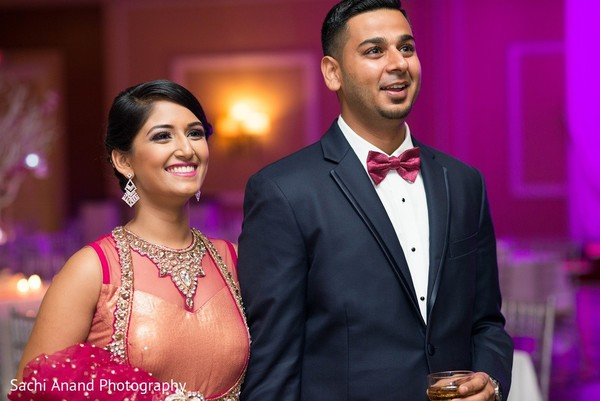 Reception in Somerset, NJ  Indian Wedding by Sachi Anand Photography