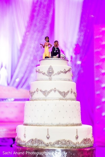 Wedding Cake in Somerset, NJ  Indian Wedding by Sachi Anand Photography