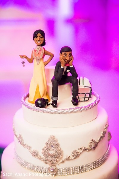 Cake Topper in Somerset, NJ  Indian Wedding by Sachi Anand Photography