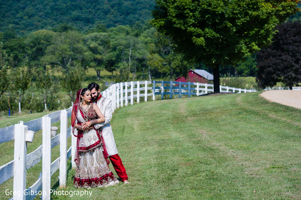 First Look in Keswick, VA Indian Wedding by Greg Gibson Photography