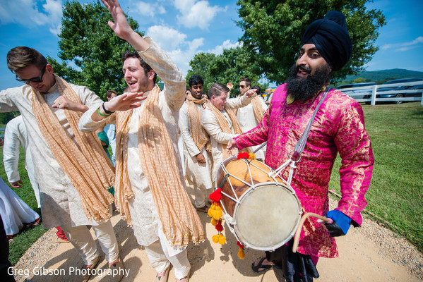 Baraat in Keswick, VA Indian Wedding by Greg Gibson Photography