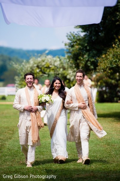 Ceremony in Keswick, VA Indian Wedding by Greg Gibson Photography
