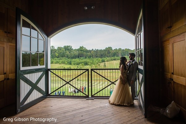 Reception Portrait in Keswick, VA Indian Wedding by Greg Gibson Photography