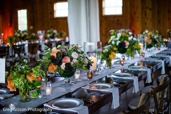 Floral & Decor in Keswick, VA Indian Wedding by Greg Gibson Photography