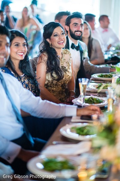 Reception in Keswick, VA Indian Wedding by Greg Gibson Photography