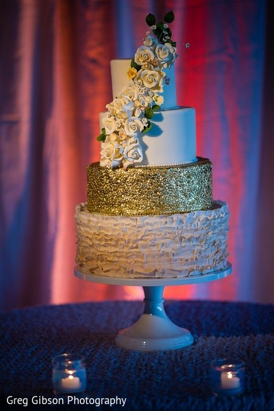 Wedding Cake in Keswick, VA Indian Wedding by Greg Gibson Photography