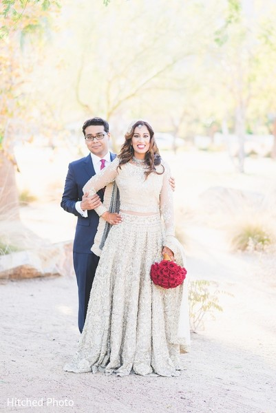 First Look in Palm Springs, CA Pakistani Wedding by Hitched Photo