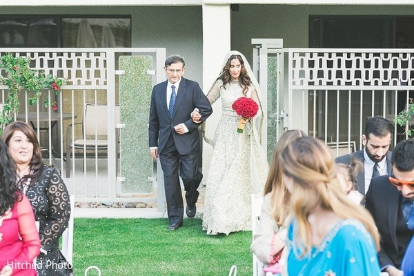 Ceremony in Palm Springs, CA Pakistani Wedding by Hitched Photo