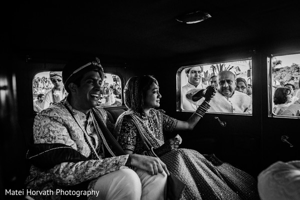 Bride and Groom in Huntington Beach, CA Indian Wedding by Matei Horvath Photography