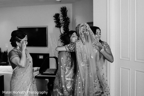 Bride Getting Ready in Huntington Beach, CA Indian Wedding by Matei Horvath Photography