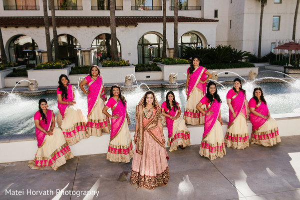 Bridesmaids Portraits in Huntington Beach, CA Indian Wedding by Matei Horvath Photography