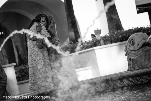 First Look Portraits in Huntington Beach, CA Indian Wedding by Matei Horvath Photography