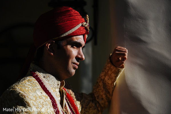 Groom Portraits in Huntington Beach, CA Indian Wedding by Matei Horvath Photography