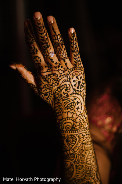 Mehndi'd Hands in Huntington Beach, CA Indian Wedding by Matei Horvath Photography