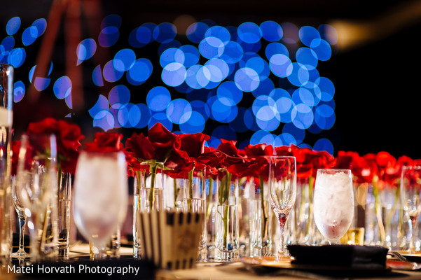 Reception Decor in Huntington Beach, CA Indian Wedding by Matei Horvath Photography