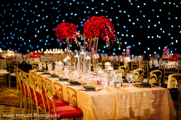 Tablescape in Huntington Beach, CA Indian Wedding by Matei Horvath Photography