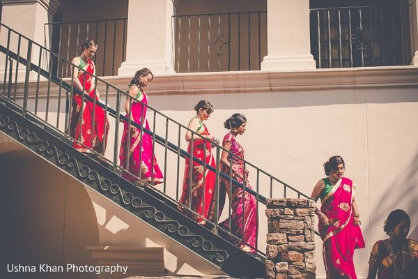 Bridal Party in Austin, TX Indian Wedding by Ushna Khan Photography