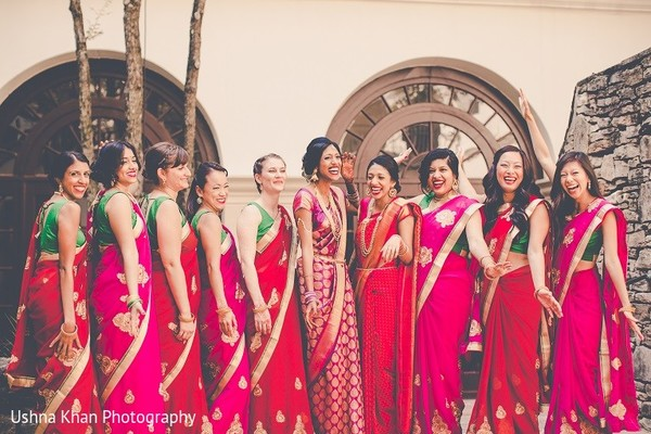 bridal party,indian bridal party,indian wedding party,wedding party,indian bridal party portraits,wedding party portraits,indian wedding party portraits,bridesmaids sarees,bridesmaids saris,bridesmaid saree,bridemaid sari,indian bridesmaids,indian wedding bridesmaids