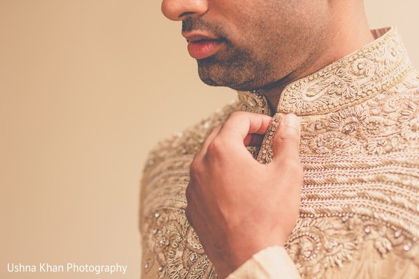 Groom Getting Ready in Austin, TX Indian Wedding by Ushna Khan Photography