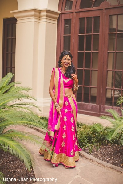 Reception Portrait in Austin, TX Indian Wedding by Ushna Khan Photography