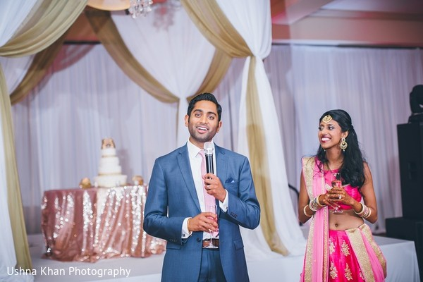 Reception in Austin, TX Indian Wedding by Ushna Khan Photography