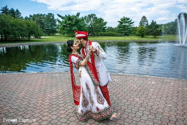 First Look in Mahwah, NJ Indian Wedding by Events Capture