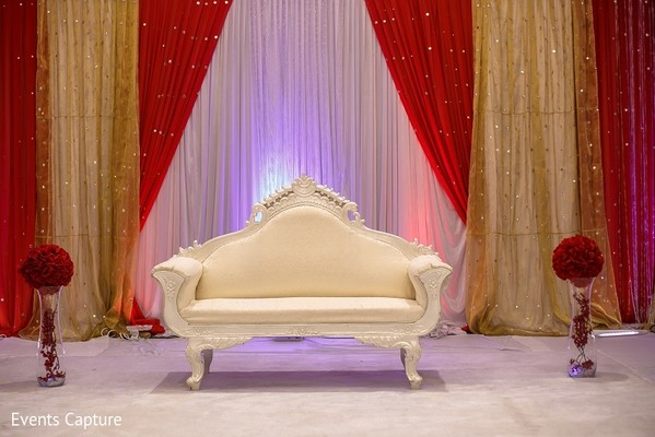 Sweetheart Stage in Mahwah, NJ Indian Wedding by Events Capture