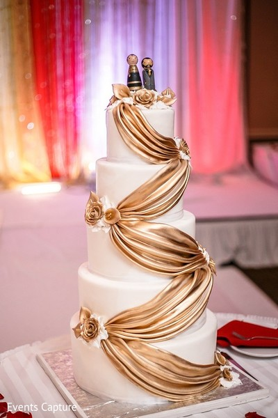 Wedding Cake in Mahwah, NJ Indian Wedding by Events Capture