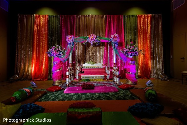 Pre-Wedding Decor in Baltimore, MD Indian Wedding by Photographick Studios