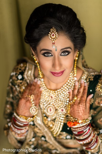 Bridal Portrait in Baltimore, MD Indian Wedding by Photographick Studios
