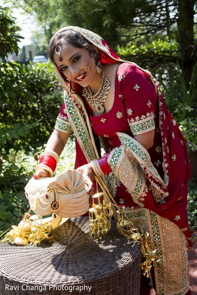 Bridal Portraits in Edison, NJ Indian Wedding by Ravi Changa Photography