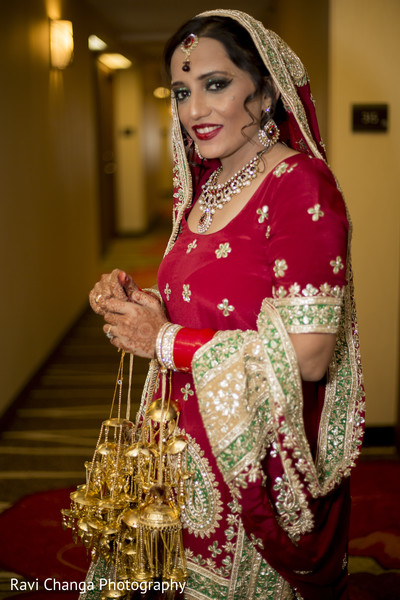 Bride Getting Ready in Edison, NJ Indian Wedding by Ravi Changa Photography