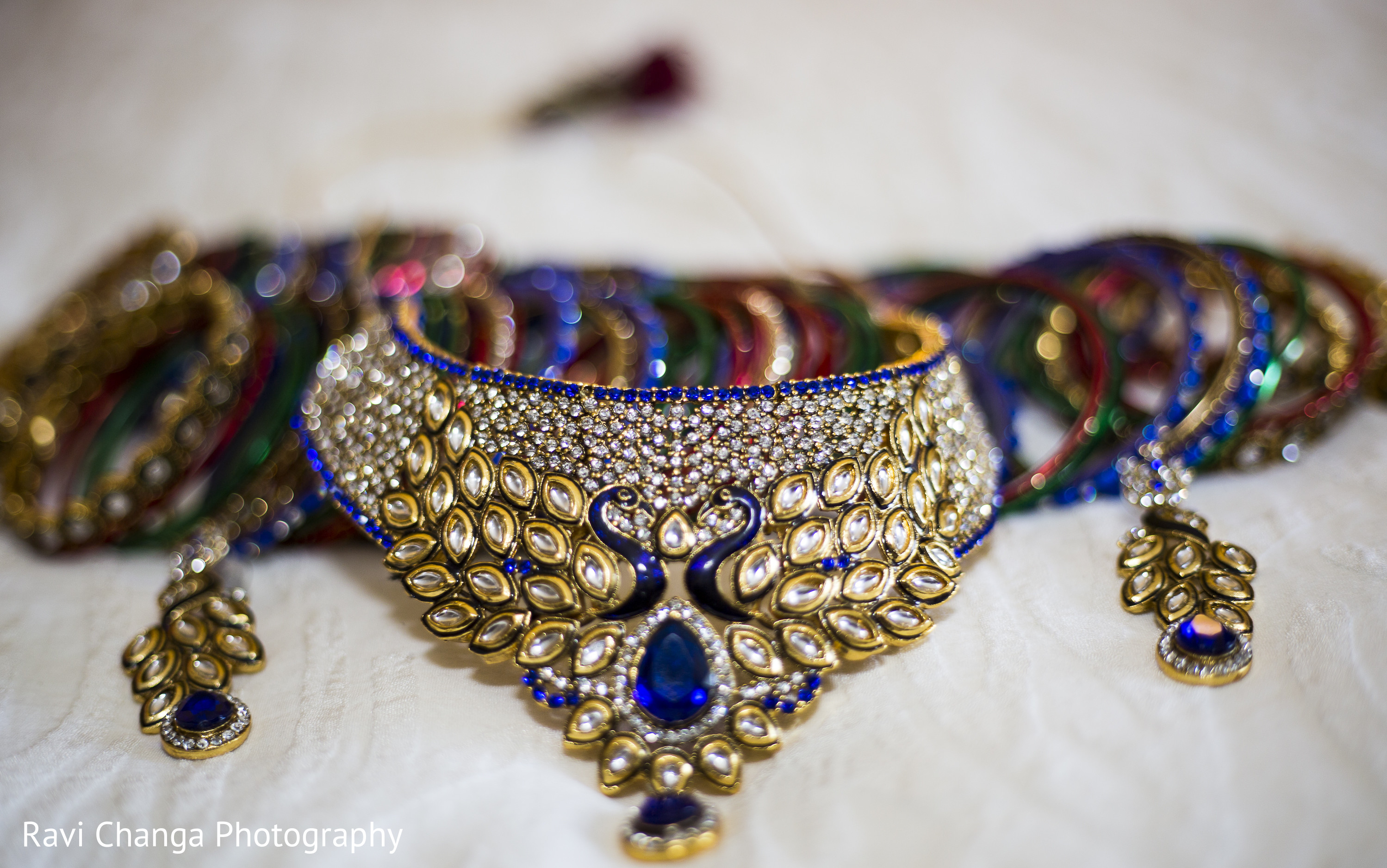 Bridal Jeweley in Edison NJ Indian Wedding by Ravi Changa