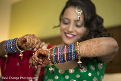 Bride Getting Ready for Sangeet