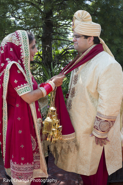 First Look Portraits in Edison, NJ Indian Wedding by Ravi Changa Photography