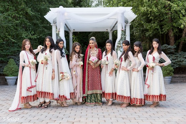 Bridal Party in North Haledon, NJ Pakistani Wedding by S.Snapz