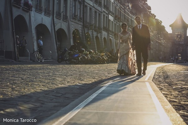 First Look in Bern, Switzerland Sikh Fusion Destination Wedding by Monica Tarocco Photography