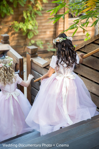 Flower Girls in Pleasanton, CA Fusion Wedding by Wedding Documentary Photo + Cinema