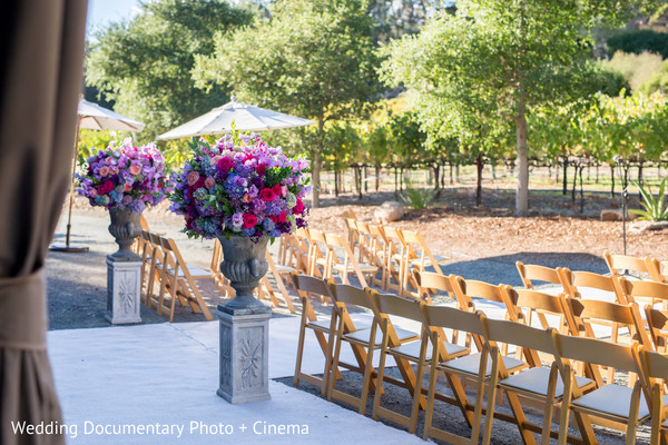 Ceremony Decor in Pleasanton, CA Fusion Wedding by Wedding Documentary Photo + Cinema
